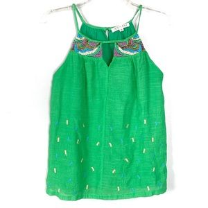Joy Joy Green Embroidered Dress Size S
